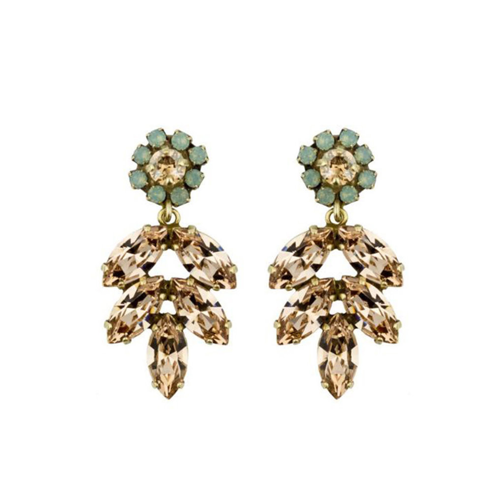 MH Earrings - Aphrodite -  16 - Champagne/Turquoise