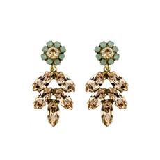 Earrings - Aphrodite -  16 - Champagne/Turquoise