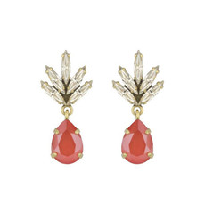 Caprice Decadent Earrings - Tiny Athena -  Coral