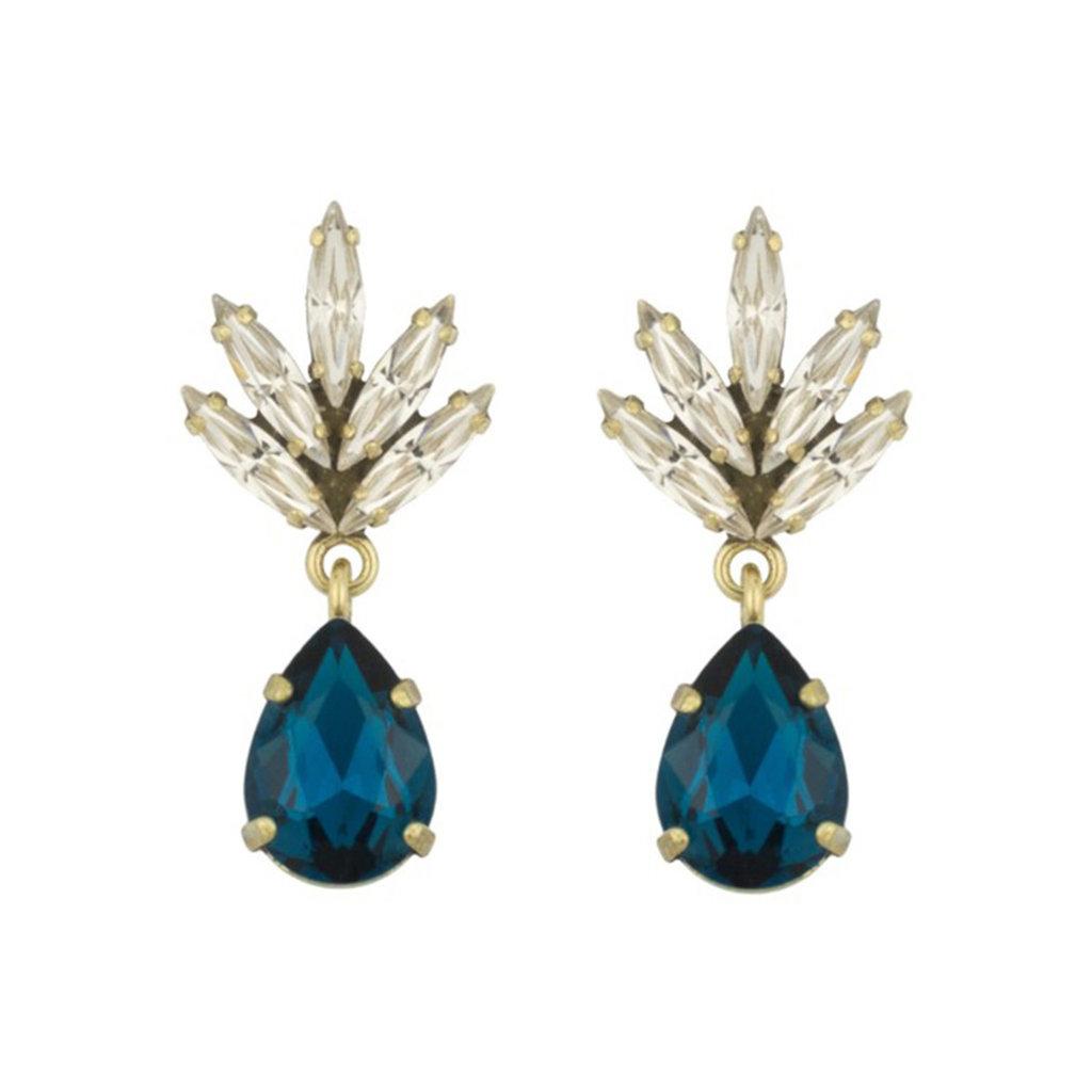 Caprice Decadent Earrings - Tiny Athena -  10 - Navy