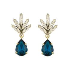 Earrings - Tiny Athena -  10 - Navy