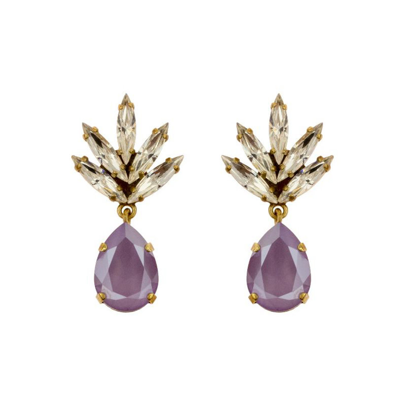 Caprice Decadent Earrings - Athena -  4 - Lavender