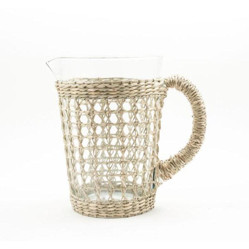 MH Glassware - Seagrass Cage -  Pitcher