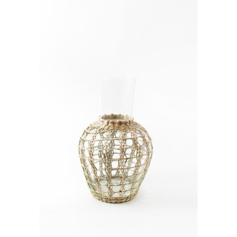 Kiss That Frog Glassware - Seagrass Cage -  Pitcher Carafe