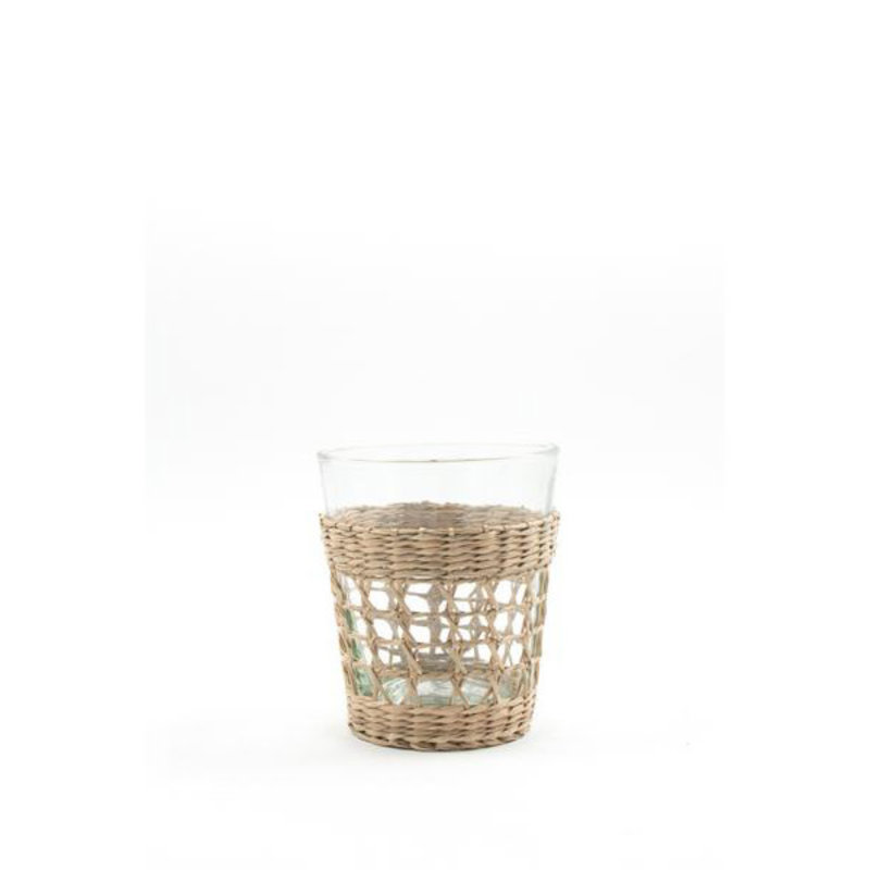 Kiss That Frog Glassware - Seagrass Cage -  Tumbler - Small