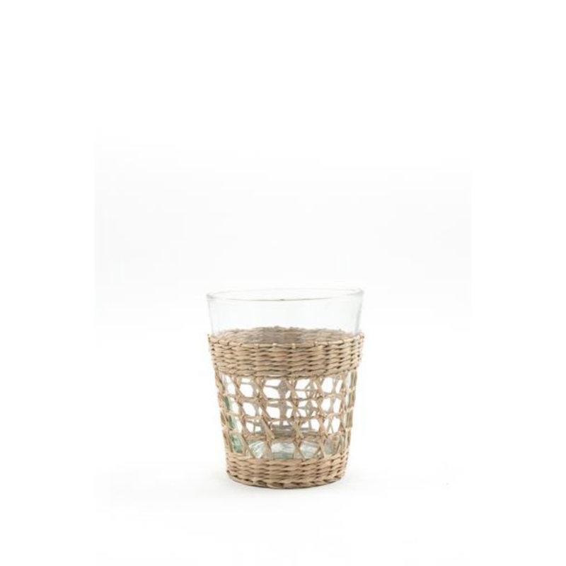 MH Glassware - Seagrass Cage -  Tumbler - Small