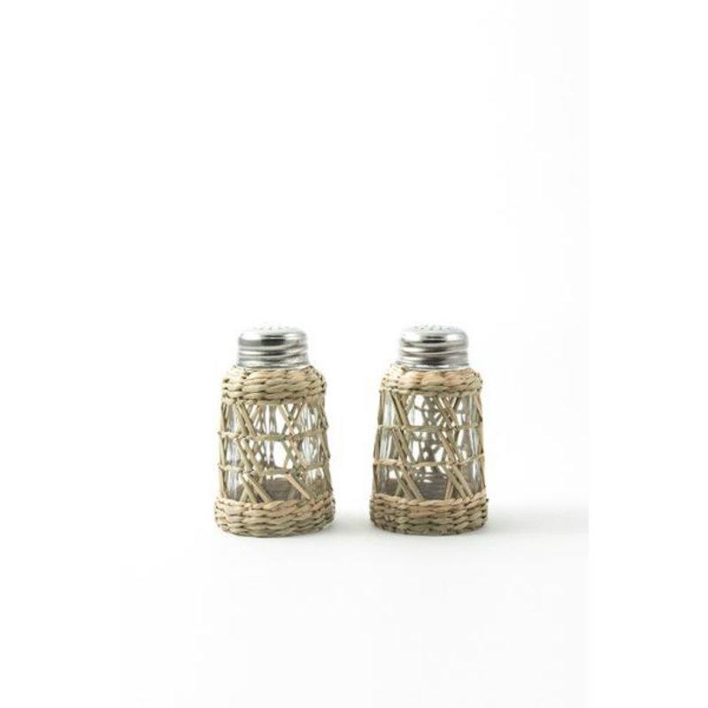 Kiss That Frog Serveware - Seagrass Cage -  Salt & Pepper Set