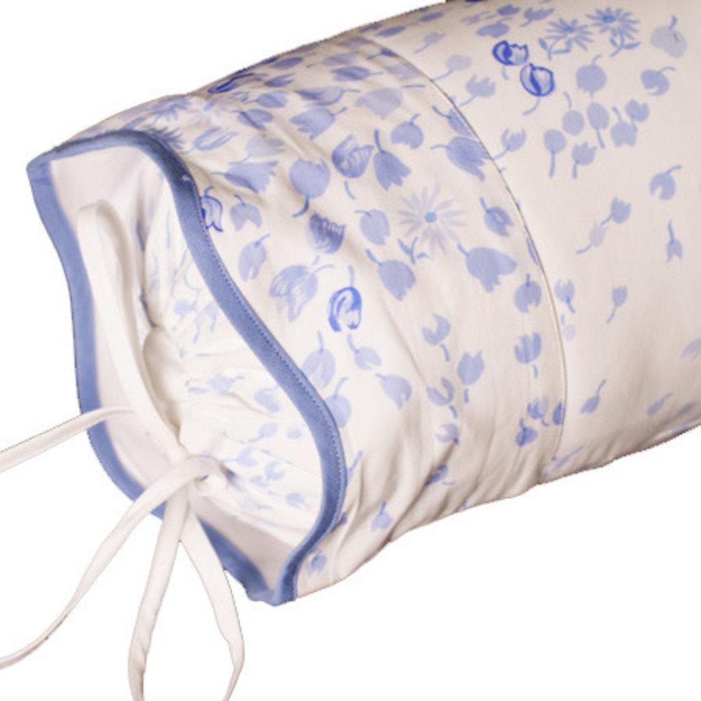 D. Porthault Bouquet Eclate - Periwinkle - Blue Wavy - Bedding -  Sham - Neckroll