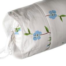 D. Porthault Fleurs de Pecher - Blue - White Wavy - Bedding -  Sham - Neckroll