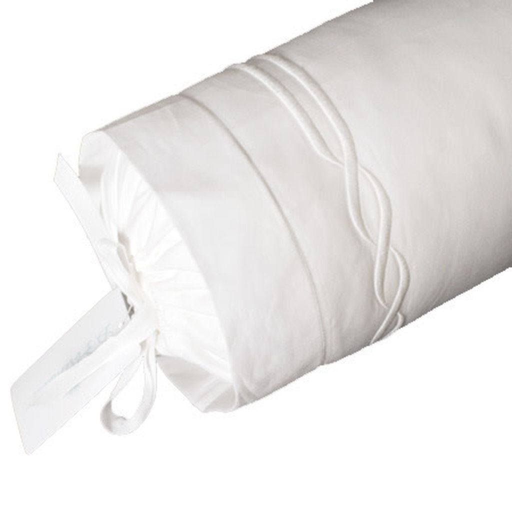 D. Porthault Tresse - White - Bedding -  Sham - Neckroll