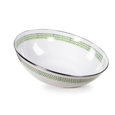 Green Scallop -  Catering Bowl Enamel