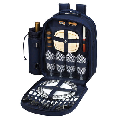 Picnic Backpack - Four Person - Navy
