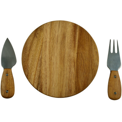 Cheese Board Set - Acacia Bristol 3-Piece Set