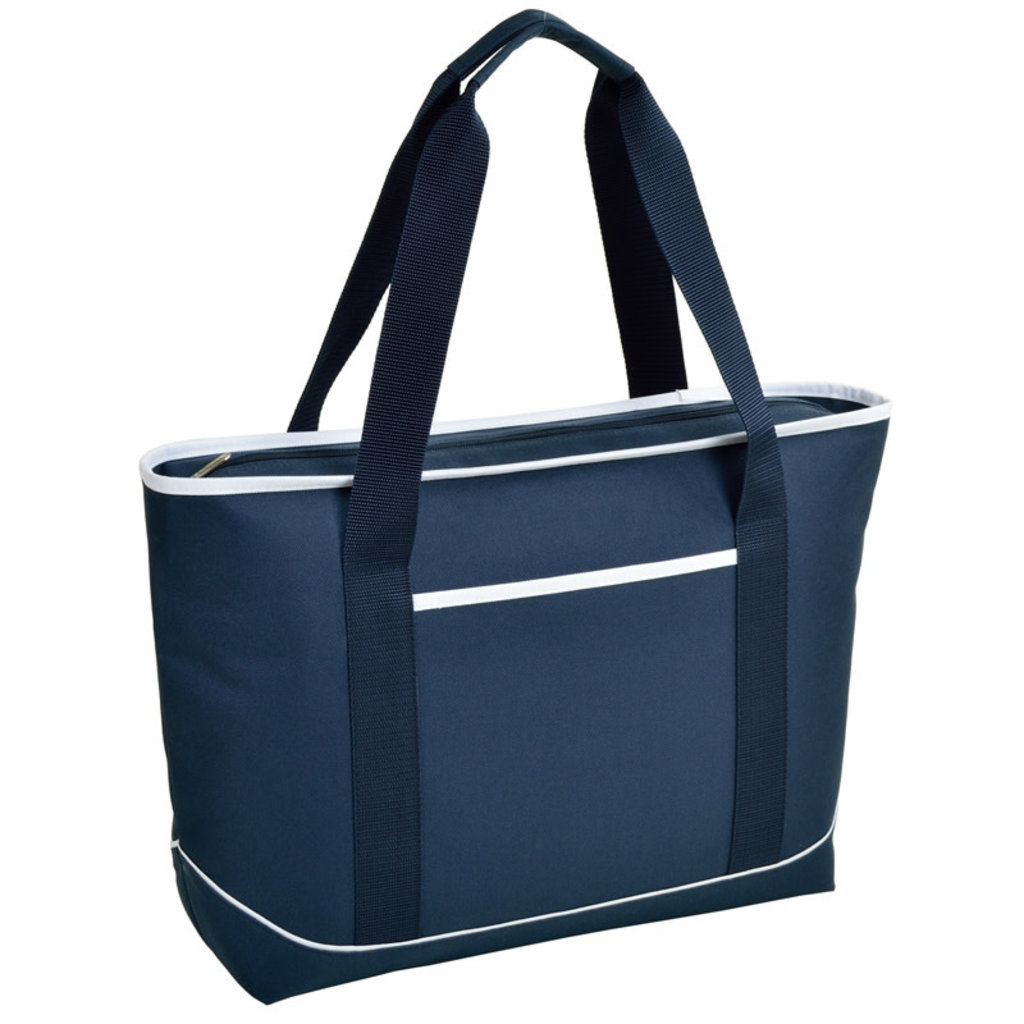 Cooler Tote - Large Insulated Cooler - Navy w/White Trim