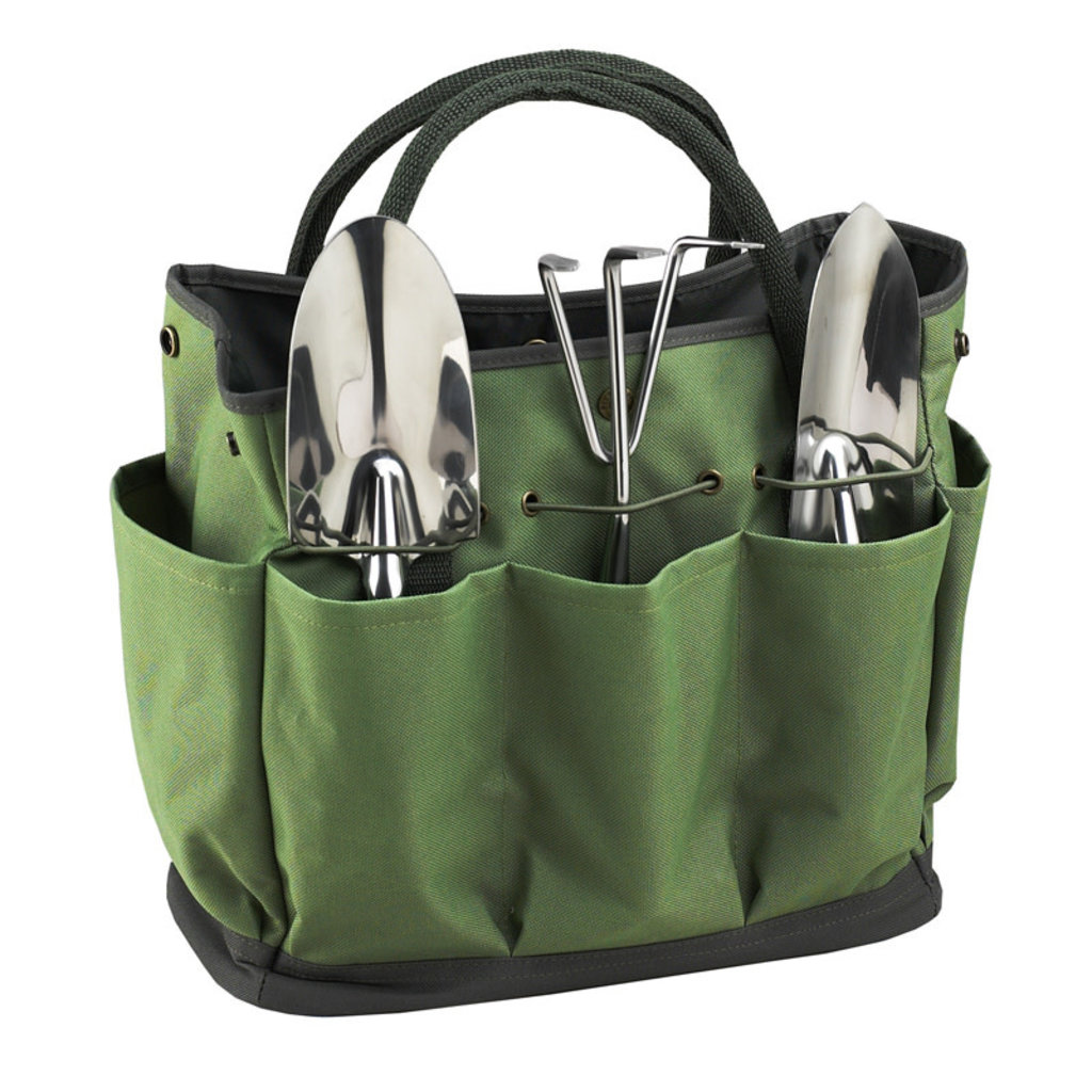 Picnic at Ascot Garden Tote - Tote & 3 Piece Tool Set - Forest Green