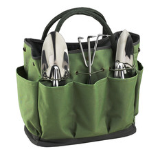 Garden Tote - Tote & 3 Piece Tool Set - Forest Green