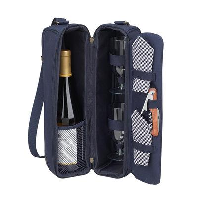 Wine Carrier - Sunset - w/Glasses, Napkins & Corkscrew