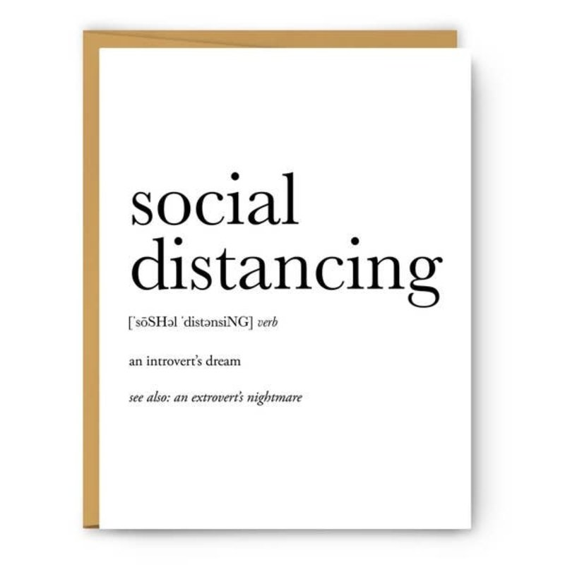 Footnotes Card - Definition - Social Distancing