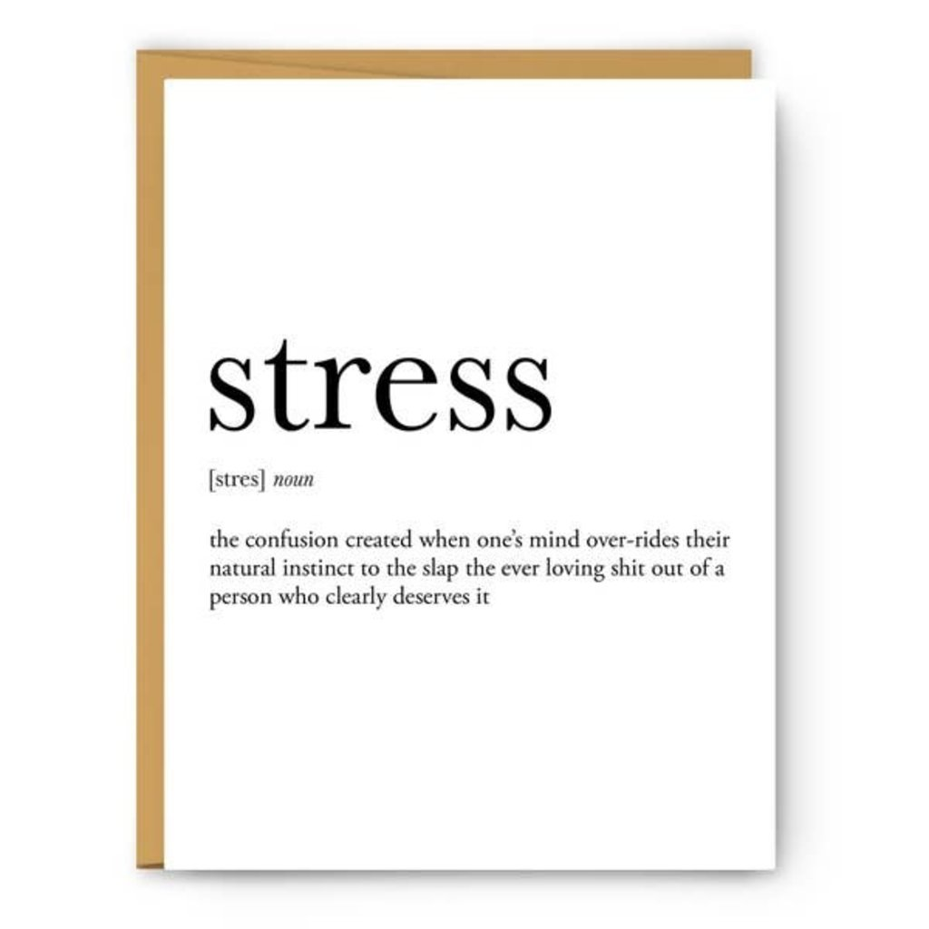 Footnotes Card - Definition - Stress
