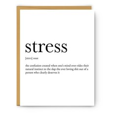 Card - Definition - Stress