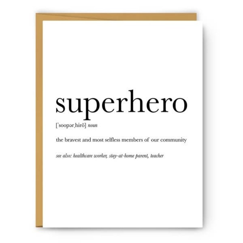 Footnotes Card - Definition - Superhero
