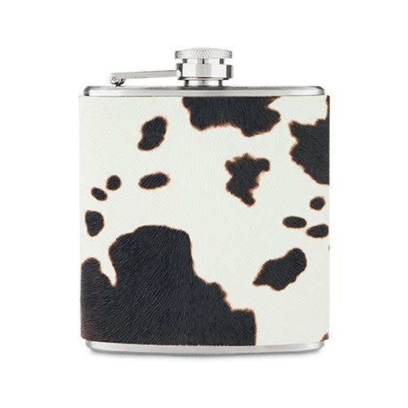 True Brands Flask - Cow Hide