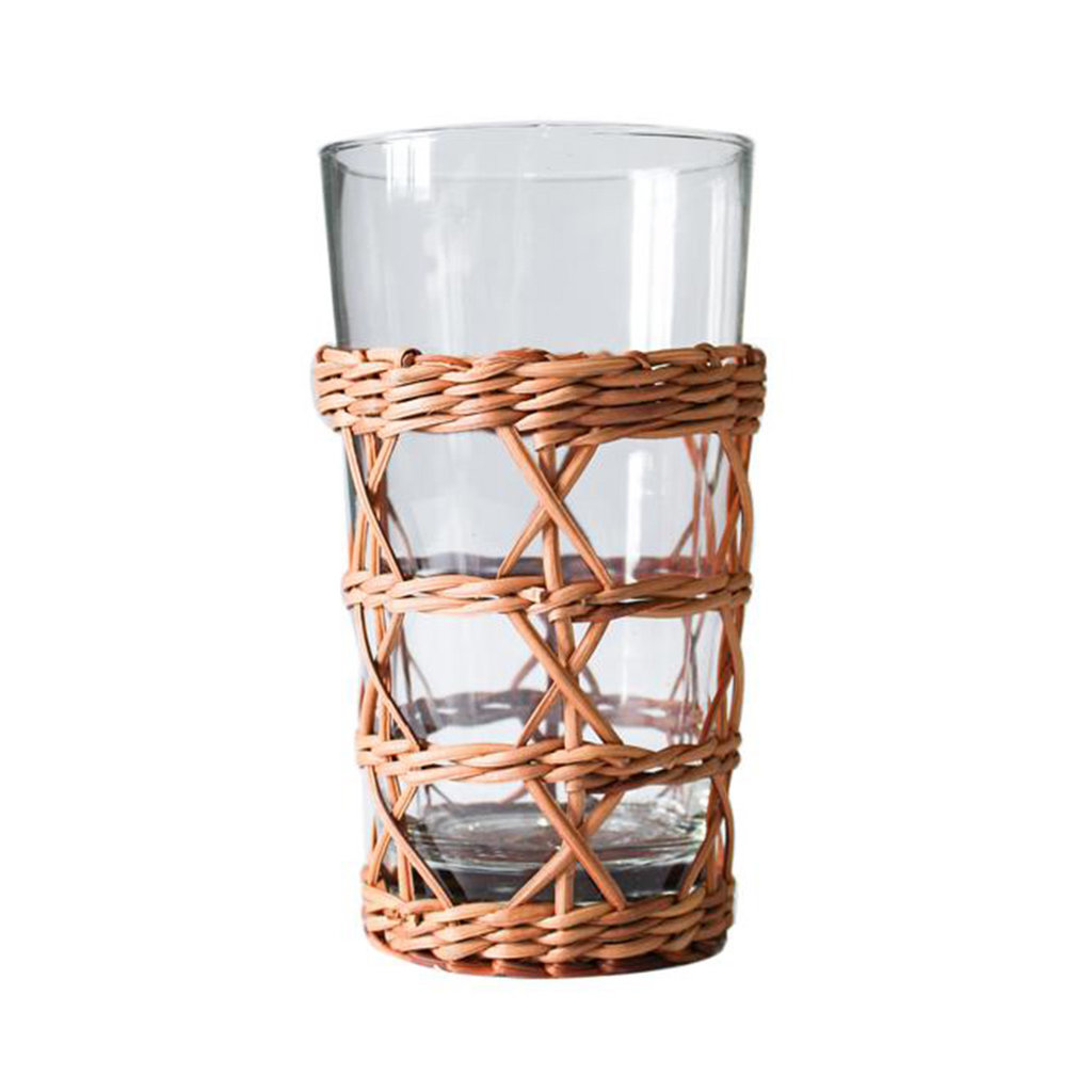 MH Glassware - Rattan Cage -  Highball