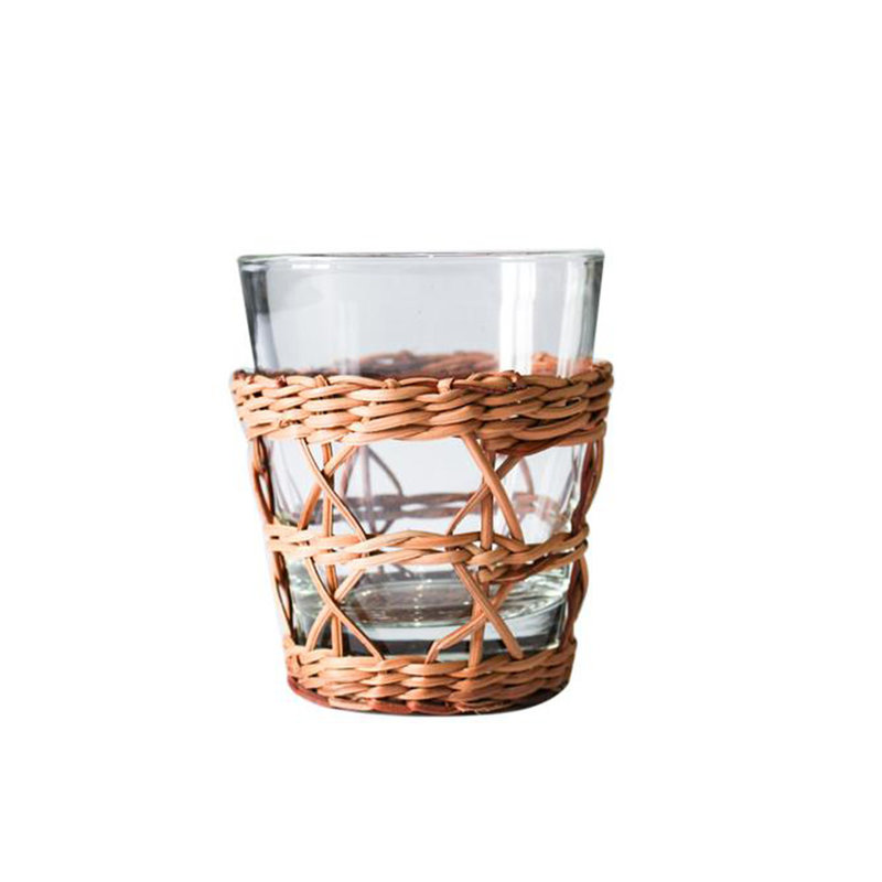 Kiss That Frog Glassware - Rattan Cage -  Tumbler - Wide