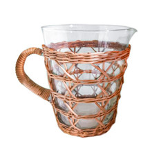 Glassware - Rattan Cage -  Tall Pitcher