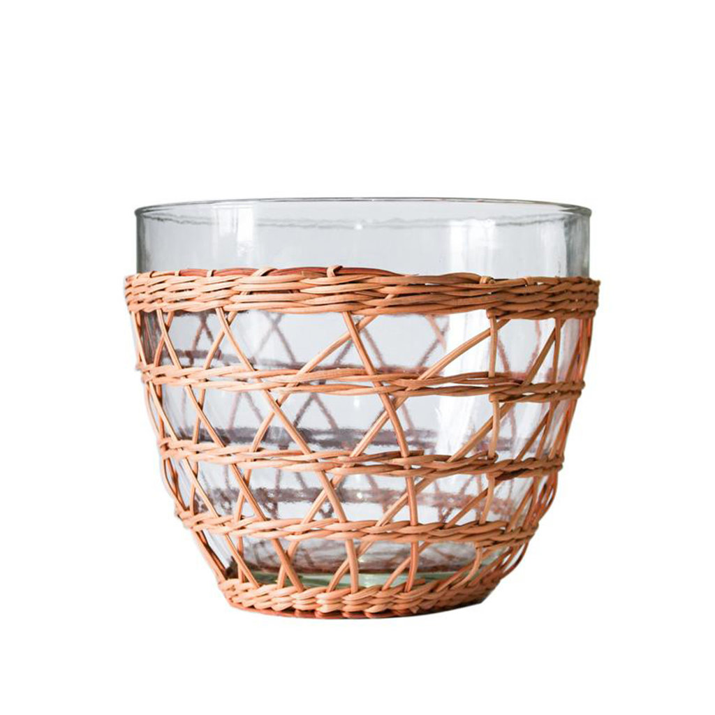 MH Serveware - Rattan Cage - Salad Bowl -   Medium