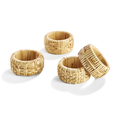 Napkin Rings - Cane - Set of 4
