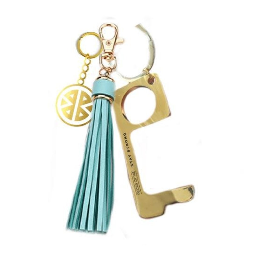 MH Key Ring - Don't Touch That! - Aqua