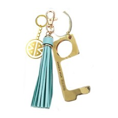 Key Ring - Don't Touch That! - Aqua