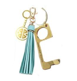 Key Ring - Don't Touch That! - Aqua