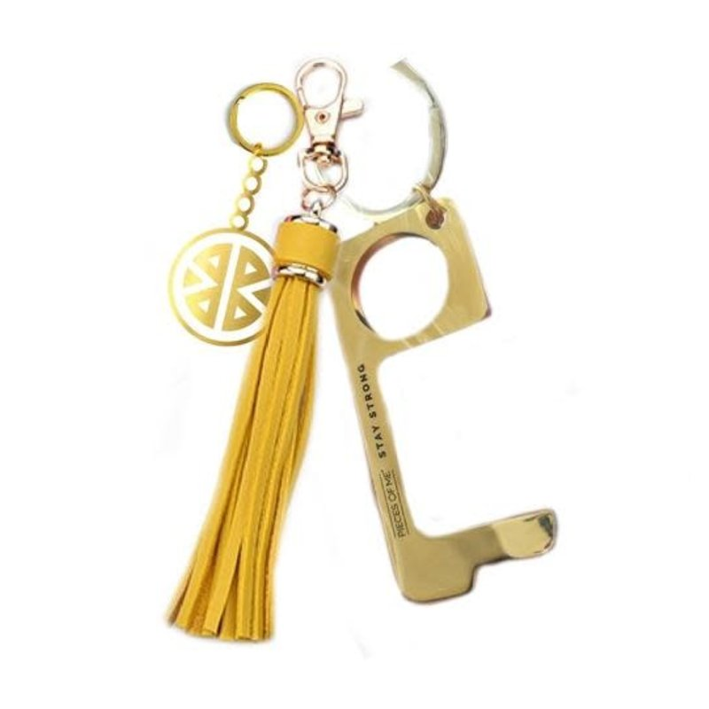 Pieces of Me Key Ring - Don't Touch That! - Yellow