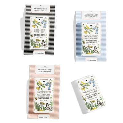 Hand Sanitizer - Garden Sayings -  .5 oz Purse Spray- Asstd
