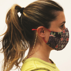 Face Mask Chain - Gold & Crystal