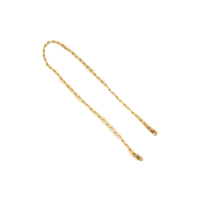 MH Face Mask Chain - Gold Rectangle Link