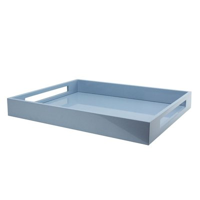 "Tray - Lacquered - Pale Denim - 22"" x 16"""
