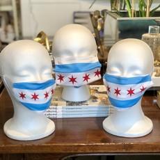 Face Mask - Chicago Flag - Adult, kids, toddler