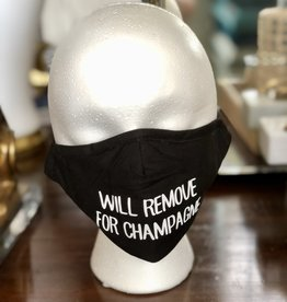 Face Mask - Will Remove for Champagne & More!