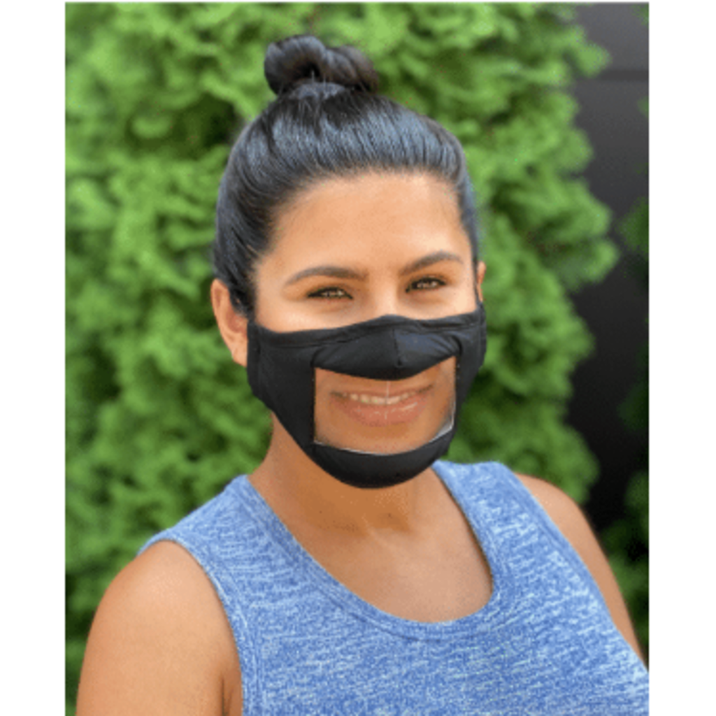 Living Royal Face Mask - Smile - Anti-Fog Clear Panel - ADULT