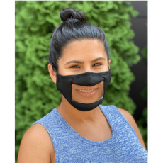 Face Mask - Smile - Anti-Fog Clear Panel - ADULT