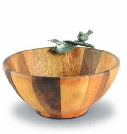 Bowl - Songbird - Small - Wood & Pewter