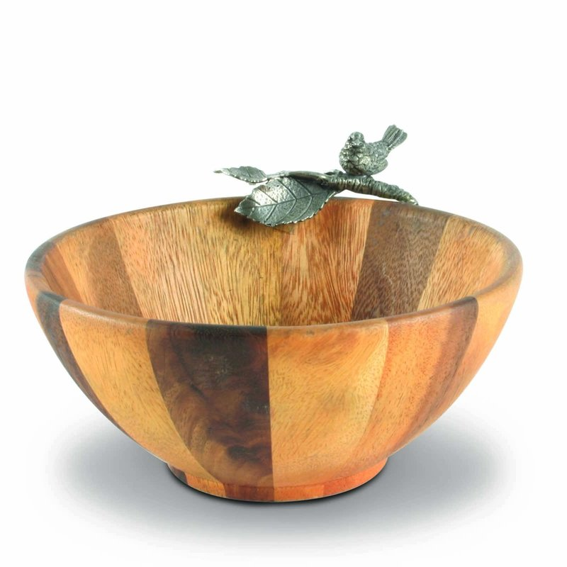 MH Bowl - Songbird - Small - Wood & Pewter