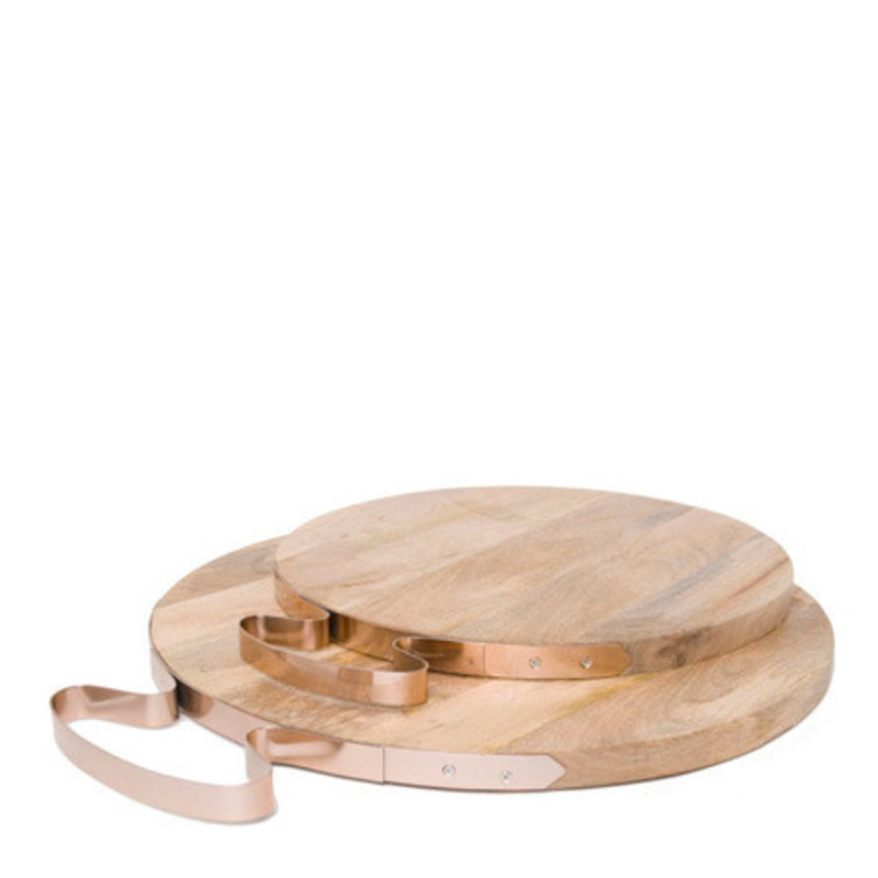 Two's Company Cheese Board - Copper Handle  -