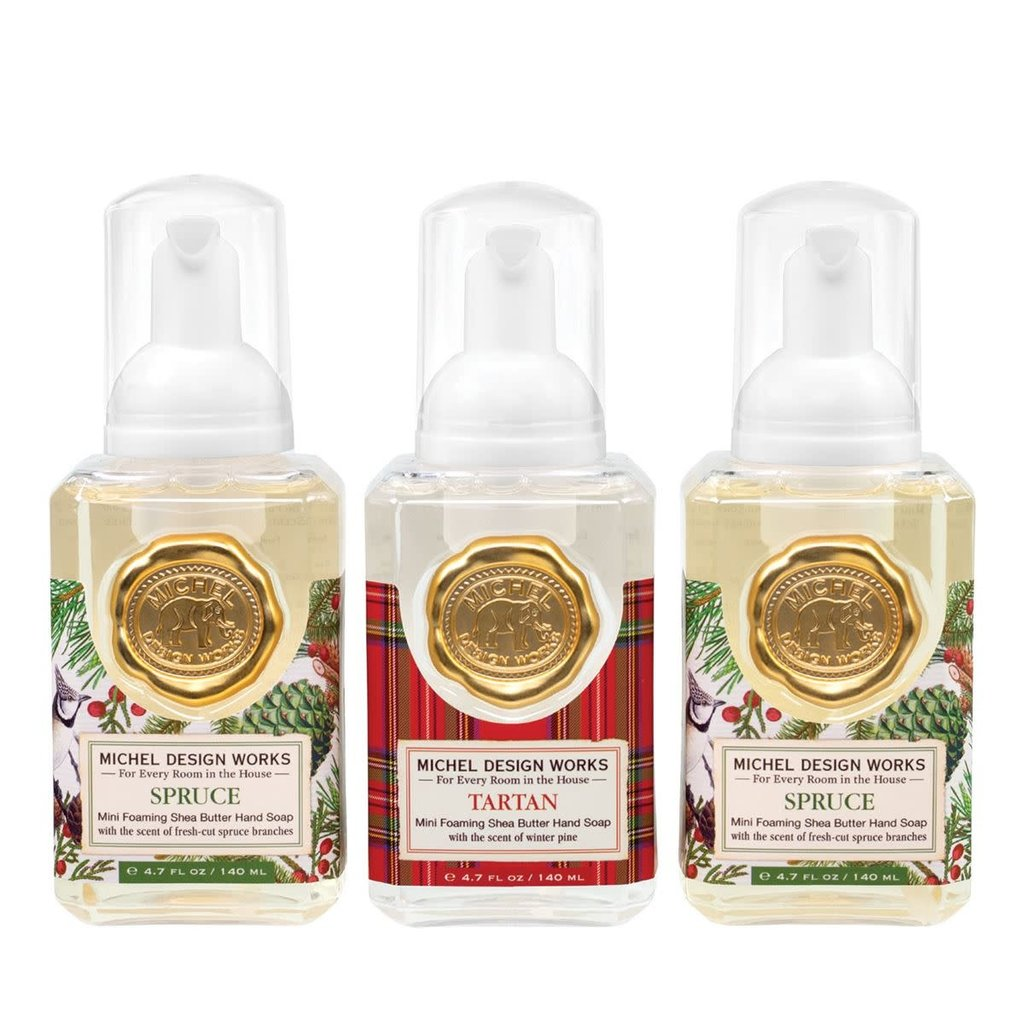 Michel Design Works Mini Foaming Hand Soap - Spruce & Tartan - Set of 3