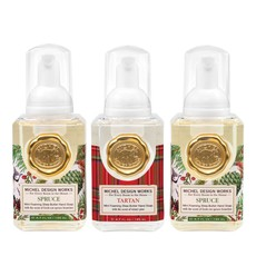 MH Mini Foaming Hand Soap - Spruce & Tartan - Set of 3