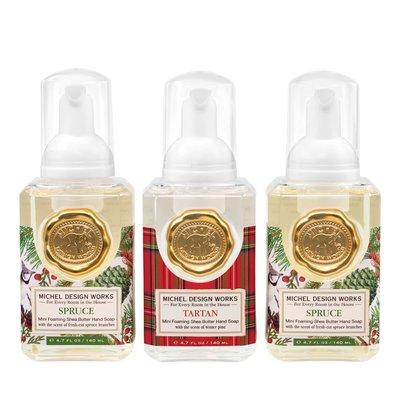 Mini Foaming Hand Soap - Spruce & Tartan - Set of 3
