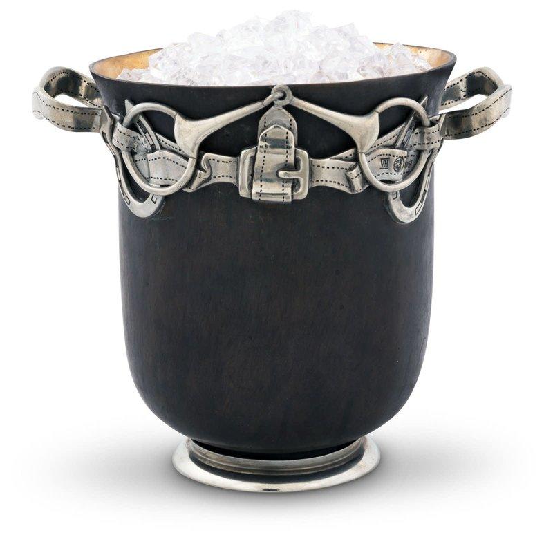 """MH Ice Bucket - Equestrian - Bronze - 8"""" T x 7"""" W x 8.5"""" L"""